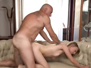 Youthfull Blonde Hotty Gets Banged By Older Fellow