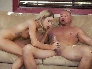 Alluring Blondie Emma Hix Tempts Dude To Get Her Slit Fucked Well
