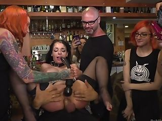 Sophia Laure And One More Gal Determine To Fuck Together In The Public