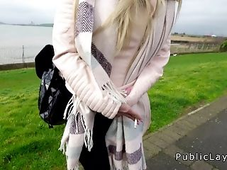 Czech Honey Fucks Brit Chisel In Public