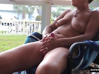 A Weekday In Florida. As So Often My Wifey Masturbates In Front Of The Window