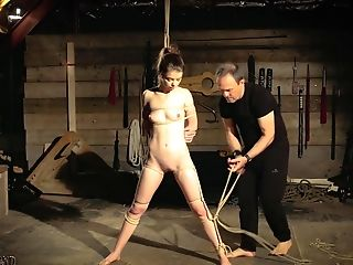 Hot And Gonzo Domination & Submission Fuck For Teenage Tied Up In Chains Masturbate