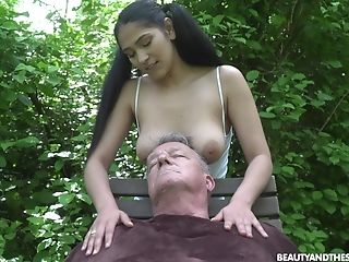 Ava Black Adores Outside Fuck In The Garden With Her Old Paramour