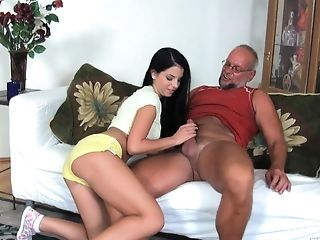 Youthful  Beauty Jessyka Swan Plays With Old Teacher.