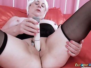 Europemature Big-boobed Brit Matures Lady Solo Have Fun