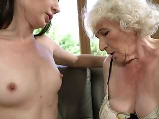 Decadent Granny Norma Likes To Masturbate With Lovely Teenager Linda Love