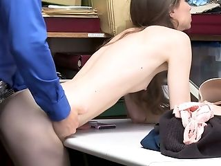 Adorable Doll Tali Dova Is Penalized By One Pervy Dude For Shoplifting