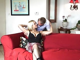 Sarah Vandella Spreads Her Lengthy Gams For A Friend's Strong Dick