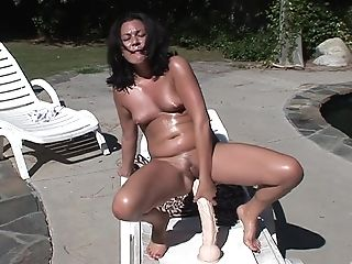 Beautiful Ashley Blue Drills Her Petite Cunt With A Lengthy Fake Penis