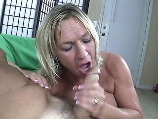 Insatiable Matures Brandi James Slips A Hard Dick Inbetween Her Tits