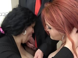 Dirty Threesome Fucking With Two Matures Bitches Lucie And Anna Jelinkova