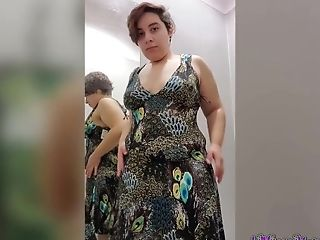 Kiwwi Attempts On Sexy Clothing In Public Dressing Room!